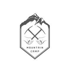 mountain camping logotype vector image