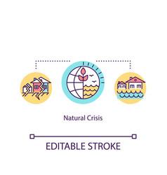Natural crisis concept icon environmental vector
