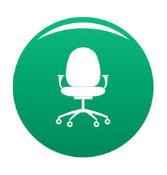 New chair icon green vector