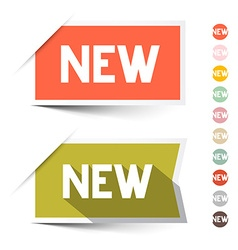 New Retro Paper Labels - Stickers Set Isolated on vector image