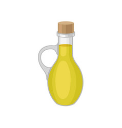 oil in bottle on white background vector image