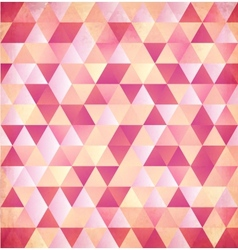 Red abstract triangle vintage background vector