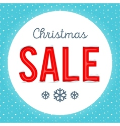 Retro Christmas sale poster vector image