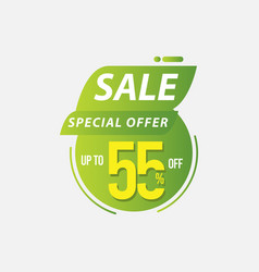 Sale special offer up to 55 off limited time only vector