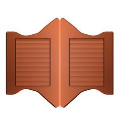 saloon doors icon cartoon style vector image