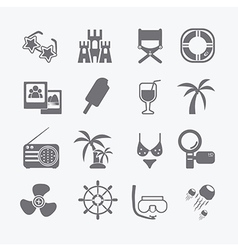 Sea set of icons vector