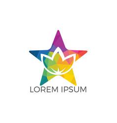 star spa logo lotus wellness salon logo design vector image