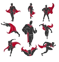 Superhero comics set vector
