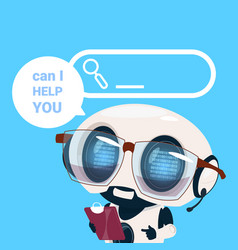 Support center headset agent robot client online vector