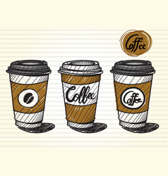 Take out coffee cup vector