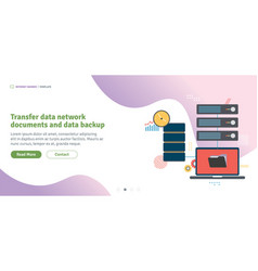 transfer data network documents and data backup vector image
