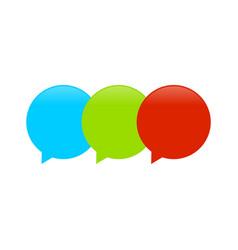 triple balloon callout symbol logo design vector image
