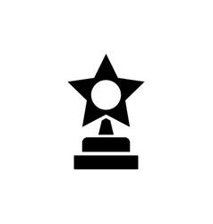 trophy star winner award flat icon vector image