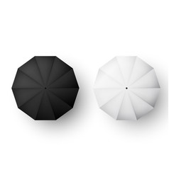 umbrellas set black and white parasol view from vector image