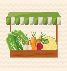 vegetables shop market image vector image