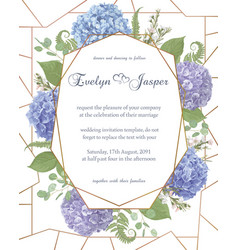 Wedding watercolor flower cardleaves blooming vector