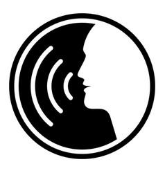 White voice vector