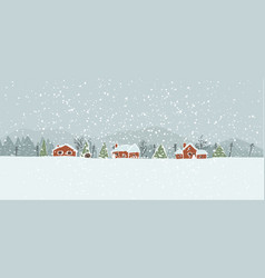 Winter in the town vector