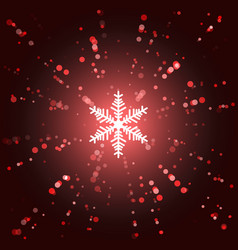 xmas background snowflake in the center confetti vector image
