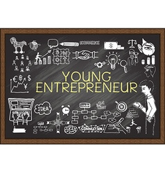Young Entrepreneur on chalkboard vector