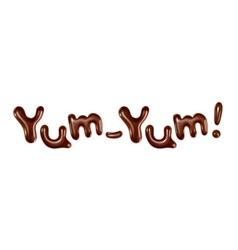 Yum-Yum inscription stylish isolated on whi vector