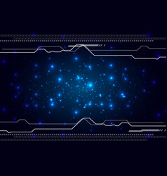 abstract futuristic technology high computer vector image