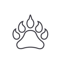 animal footprint line icon sign vector image