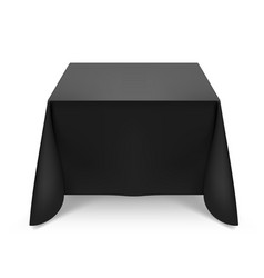 black tablecloth on white background for design vector image vector image