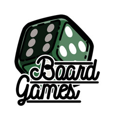color vintage board games emblem vector image vector image