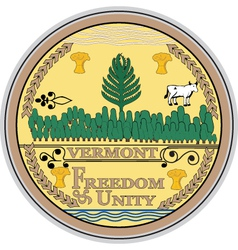 Vermont seal vector image vector image