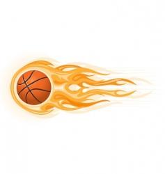 basketball ball flame vector image vector image