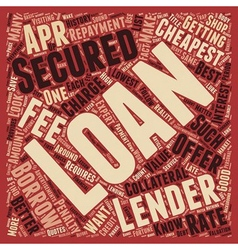 Cheapest Secured Loans Save A Fortune On Your vector image