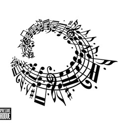 Expressive groove concept Black and white design vector image vector image