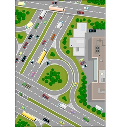 highway intersection vector image vector image