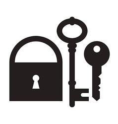 Padlock and keys vector image
