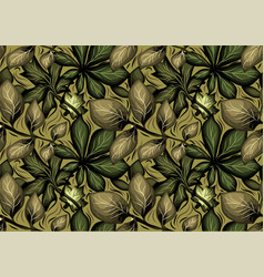pattern of leaves vector image vector image