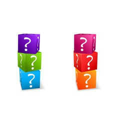 question mark cubes vector image vector image