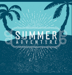 summer adventures poster summer beach party poster vector image