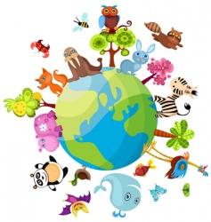 animal planet vector image vector image