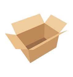 open flat box vector image