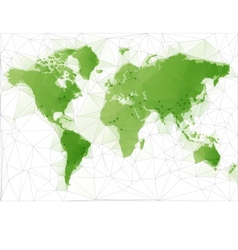 World Map with largest cities in the world vector image