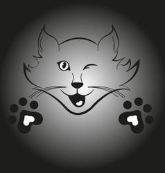 Blinking cat vector
