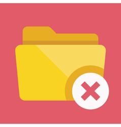 Close Folder Icon vector image vector image