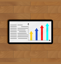 info with growth arrow chart vector image vector image