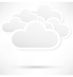 Paper clouds background vector image vector image