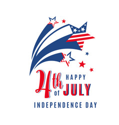 4th of july celebration holiday banner with vector
