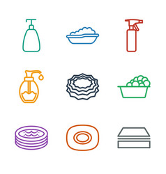 9 soap icons vector