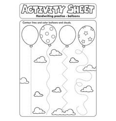 Activity sheet handwriting practise topic 1 vector