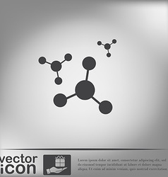 atom molecule symbol icon of physics or chemistry vector image