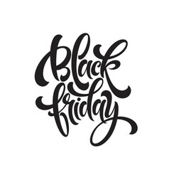 black friday sale handmade lettering calligraphy vector image
